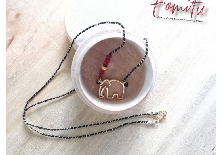 Goldplated silver elephant